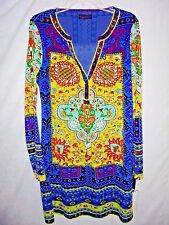New Hale Bob $211 Aviana Jersey Knit Scarf Print Dress Anthropologie Size Medium