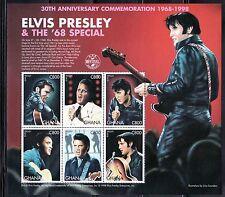 SELLOS TEMA MUSICA. GHANA 1998  2263/68 ANIVERSARIO  ELVIS PRESLEY 6v. MH