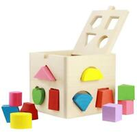 Baby Toddler Activity Cube Learning Toy Play Center Wooden Educational Game