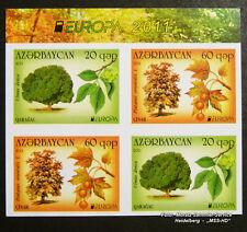 Aserbaidschan ungezähnt, Azerbaijan imperforated, Europa CEPT 2011, Zsdr.-VB **