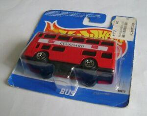 1996 hot wheels London bus short card