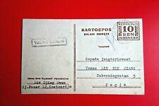 INDONESIA / Rev era:  Kartoepos w/ 10 Sen Imprinted, KOETOARDJO '6 + Censor