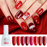 Born Pretty 10ml Nail Art Red Glitter Sparkle UV Gel Polish Soak Off UV Lamp Gel