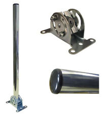 "18"" inch LOFT CARAVAN TV AERIAL MOUNTING POLE MAST KIT WITH TILT SWIVEL BRACKET"