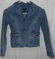 Girls size 10-12 (large),Children's Place 2 button jean jacket, naturally faded,