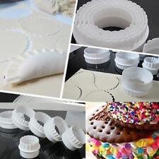 FR_ 6 pièces maison rond plastique festonné Cookie pâtisserie foundant gâtea