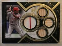 Barry Larkin 2018 Topps Museum Collection Primary Pieces Quad GU Relic /10 Patch
