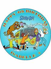 "SCOOBY DOO - PERSONALIZED 7.5"" CIRCLE EDIBLE ICING CAKE TOPPER"