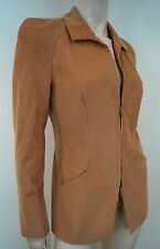 SALVATORE FERRAGAMO Vintage Tan Cotton Cashmere Corduroy Blazer Jacket UK10