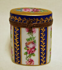 Limoges France Rehausse Main Limited Edition Porcelain Trinket Box French