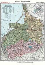 Provinz Ostpreussen 1910- Historische Karte (Reprint)