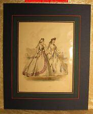 "Mode - ""le journal des Dames..."" hoja 783-altkolorierter pinchazo aprox. 1864"