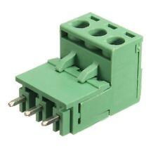 10Pcs 5.08mm Pitch 3Pin Plug-in Screw PCB Terminal Block Connector Right An H9U1