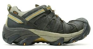 Keen Voyageur Low Mens Breathable Olive Leather Trail Hiking Shoes US 12 EU 46