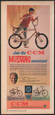 1968 Canadian Cycle & Motor CCM print ad Mustang Bicycle Bobby Hull