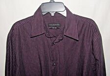 Via Europa Long Sleeve Button Up Shirt Size S Striped