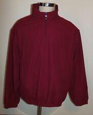 Grand Slam Golf Jacket Large Wine Red 2-In-1 Zip Off Sleeves Vest Mesh Lined