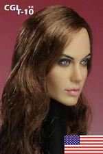 "CGL 1:6 Scale Angelina Jolie Girl Female Head Sculpt F 12"" Action Figure Body US"