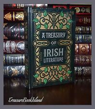 Treasury of Irish Literature Moore Wilde New Sealed Leather Bound Collectible