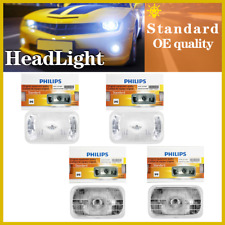 Philips 4PCS Halogen Headlight Light Bulbs Hi/lo Beam For 1988-1991 GMC K3500