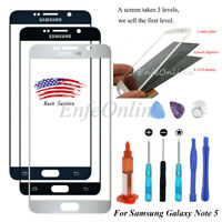 Samsung Galaxy Note 5 Touch Screen Replacement Front Glass/Uv Glue/Tools Kit NEW