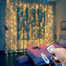 Curtain Fairy Hanging String Lights Christmas Wedding Party Home Decor 300 LED