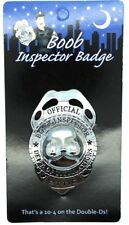"""""""BOOB INSPECTOR BADGE"""" The Ultimate Bucks Party Accessory"""