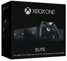 New Microsoft Xbox One Elite Bundle 1TB Black Console With White Controller Pad
