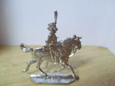 VINTAGE PART SET PT 402 OF NAPOLEONIC FLAT LEAD SOLDIERS '' FRENCH HUSSARS ''