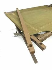 UNISSUED PAIR OF MILITARY WOODEN OLIVE DRAB REPLACEMENT COT END STICKS