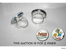 Adventure Time Backpack Fin and Jake set of 2 adjustable rings