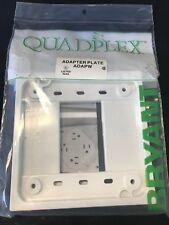 Bryant ADAPW White Quadplex Adapter Plate New in Package