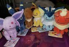 Pokemon Center Plush lot Transform Ditto Eevee flareon vaporeon jolteon umbreon