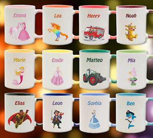 Tasse / Becher personalisiert mit Wunschnamen bedruckt /  Kinder Motiv Geschenk