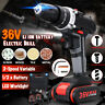 36V Cordless Hammer Drill 3In1 W/ One Li-ion Battery 2-Speed 25 Torque Kit Set