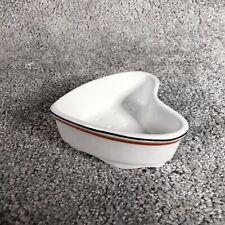 Beurrier - Ramequin Forme Cœur En Porcelaine D'auteuil Paris Décor Bistrot