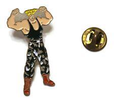 Capcom Street Fighter GUILE GRAY & GREEN CAMO PANTS pin VHTF 4 x 2 cm. Oversized