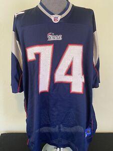 New England Patriots Vince Wilfork Reebok Jersey-2XL & Decal