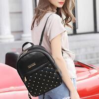 Fashion Women's Backpack Travel PU Leather Handbag Rucksack Shoulder School Bag