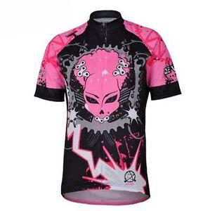 CHEJI Women's Large Cycling Jersey Short Sleeve Jersey Cycling Shirt Jacket Rosy