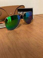 Ray-Ban Aviator Sunglasses RB3026 112/19 62mm Matte Gold Frame/Green Mirror Lens