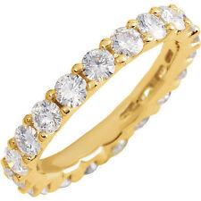 2.47ct Moissanite Round Brilliant Cut Eternity Wedding Band Ring 14k Size 7