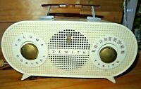 vintage MCM 1954 1955 Zenith Tube Radio Model R510-W Works & looks perfect!