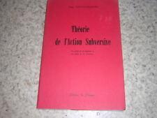 1963.théorie de l'action subversive / Roger Cosyns-Verhaegen