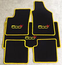 Autoteppich Fußmatten Kofferraum Set für Fiat 500x ab 2014' gelb rot 5tlg. Neu