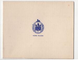 Essex Home Guard greetings card