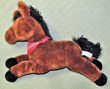 """16"""" GUND ANIMAL ALLEY HORSE STUFFED ANIMAL PLUSH BROWN BLACK MANE RED BANDANA"""