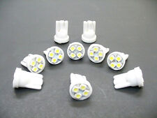 10 Olds *BRIGHT* White 12V LED Instrument Panel BA9S 1815 Light Bulbs 1895 NOS