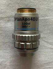Objetivo De Microscopio Olympus – dplanapo aceite 40x UV