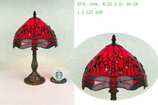 Jewelled Dragonfly design Table Tiffany Style lamp 10""